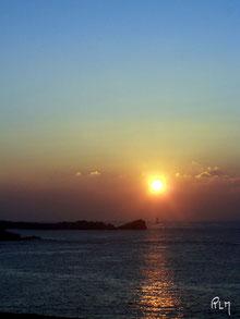 Coucher de soleil sur le Four (Finistère)