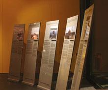 Ausstellungsstelen für die Bürgerausstellung