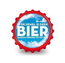 Magneetflesopener € 1,95 In de hemel is geen bier...