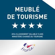 Plaque Classement Meublé de Tourisme 4 étoiles Atout France - Le Noriaguf - Appartement à Ax les Thermes