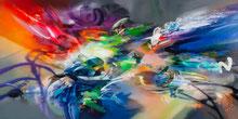 """PINTURA TRADICIONAL EN 3D: """"El Maravilloso viaje de mis primos"""". Acrilico sobre lienzo ©Rafael Espitia"""