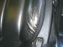 レザーシート サイドサポートの  劣化・破れ Before