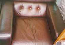 レザーソファー 肘置き・座面張り地の擦れ  After