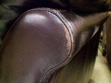 レザー長椅子 角の擦れ      Befoer