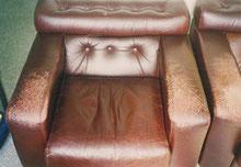 レザーソファー 肘置き・座面張り地の擦れ  Before