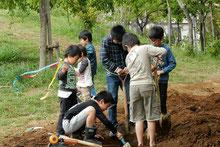 放課後プレパ 泥遊び