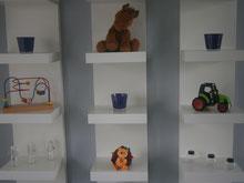 Speelgoed van 'Blik Op Hout' in praktijkruimte Sweet Wellness