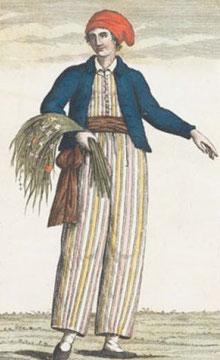 Jeanne Barret en uniforme de marin (1817)
