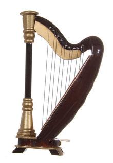 Harfe harp musikinstrument christbaumschmuck musikgirlande
