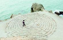 Entscheidung Weg Labyrint