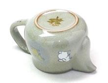 九谷焼【ティーポット・急須】小 白兎しだれ桜【裏絵】