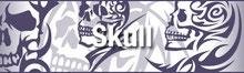 トライバル ドクロ・スカル・骸骨・TRIBAL SKULL