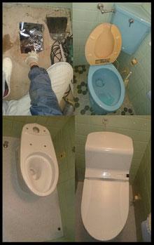 便器交換施工例③ トイレの水漏れ・トイレ故障・トイレのタンクに水がたまらない・トイレタンクの中で水が漏れている音がする・トイレの水が止まらない・トイレ交換・便器交換・ウォッシュレット交換など、トイレのトラブルで困ったら、大阪・奈良の口コミ評判のいい水道屋【水道便利屋さん】まで、ご連絡ください!安心価格・作業前見積もり・確実な施工を心がけて営業しております。