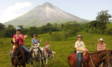 Tour a caballo en el Volcan Arenal
