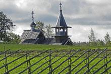 Holzkirche auf der Museumsinsel Kischi