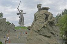 Weltkriegs-Gedenkstätte Mamajew-Hügel in Wolgograd