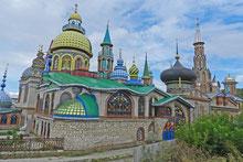 Tempel aller Religionen bei Kasan in Russland