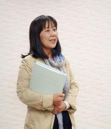 小西睦子関東支部長は、「公演の成功に向けてがんばりましょう」と挨拶。