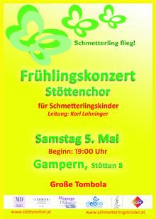Benefizkonzert des Stöttenchores 05.Mai 2012 zugunsten der Schmetterlingskinder in Stötten, Gampern