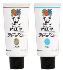 Uk Stockist Dina Wakley Heavy Body acrylic Paints & Mediums