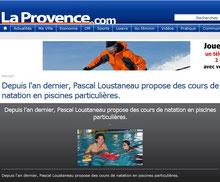 Pascal Natation sur La Provence.com