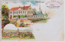 "Hotel ""Stadt Berlin"" in Löbau, Besitzer A.Schkade"