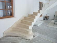 départ escalier  avec plinthe rampante