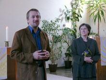 KGR-Vorsitzender Reinhard Hotop und Pfarrerin Söllig
