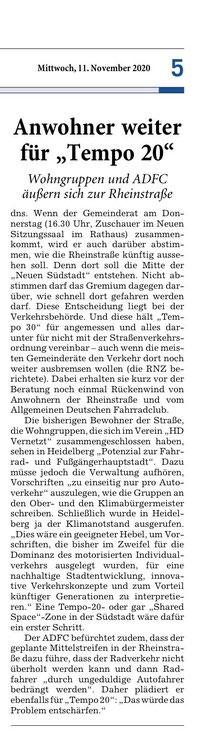 Rhein-Neckar-Zeitung 11.11.2020