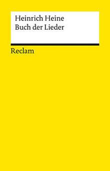 Gelbes Reclam-Cover: Heinrich Heine, Buch der Lieder