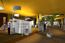 Firmenmesse in stimmungsvollem Hotel Ambiente, Firmenevent, Messestand, Event, Stimmung, Flair, Ausstrahlung, Grossveranstaltung, Kundeneinladung, Konferenz, Meeting, Festzelt