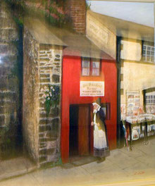 コンウェイの街の小さなハウス         ( 油彩・F20 )