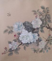 薔薇 ( 工筆画・F8 )