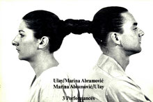 Buch / Book: Marina Abramovic und Ulay - 3 Performances.