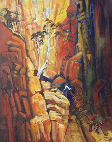 Toward the Light - Standley Chasm. NT