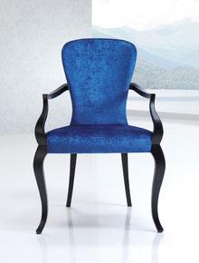 Sillón de comedor clasico tapizado modesto navarro lacadira.com