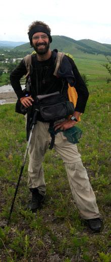Gabriel trekking au Khentii Est Mongolie