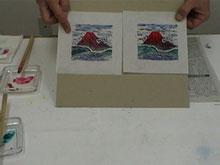 木版画手彩色
