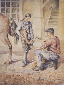 Nr. 1865 Beim Hufschmied