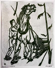 Nr. 857 Holzfäller mit Pferdeschlitten