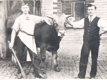 Adolf Krapf, links, 1917