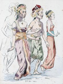 Nr. 3107 Java- Tänzerinnen
