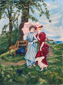 Nr. 2802 Zwei Damen der Belle Epoque