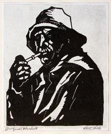Nr.856 Fischerportrait mit Pfeife