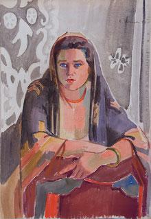 Nr. 609 Portrait Emilie Urech (Ehefrau des Malers)