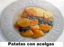 Cocina valenciana: Patatas con acelgas a la valenciana.