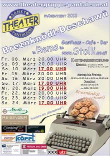 2013 Plakat Theatergruppe St. Pantaleon
