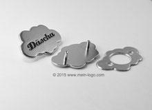 Contra-Nieten, Logo-Niete, Logo Niete für Taschen, Logoplättchen  individualisierbar