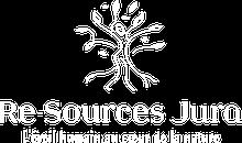 Logo Re-Sources Jura, Slogan L'éveil humain au coeur de la nature.