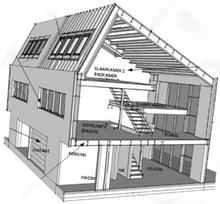 Huis in ruwbouw